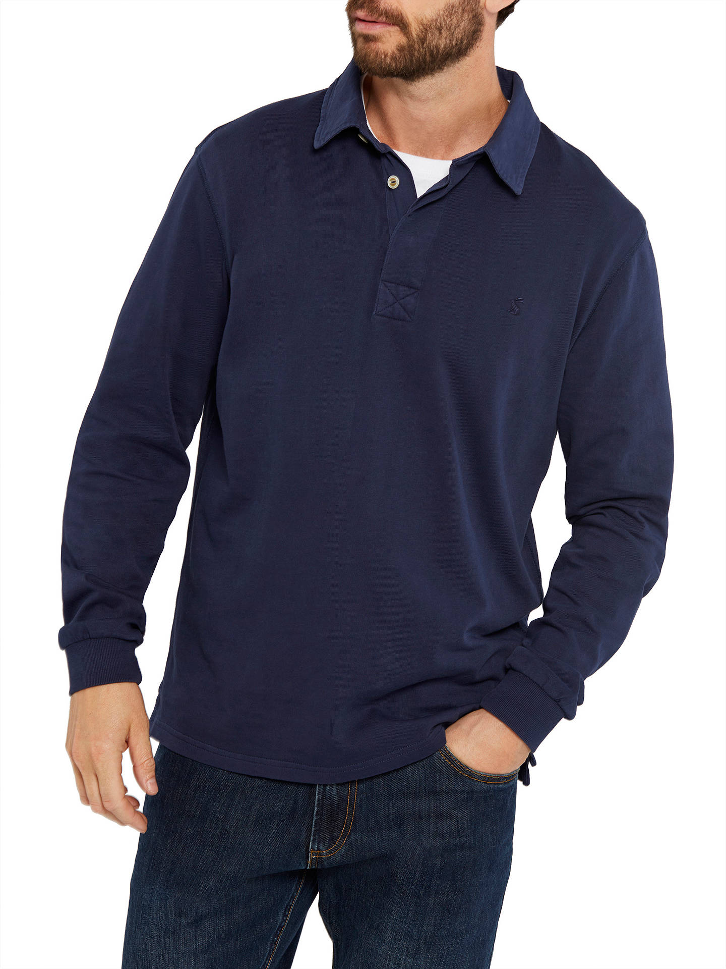 cc210c77354 Buy Joules Parkside Rugby Jersey Top, French Navy, S Online at  johnlewis.com ...