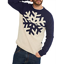 Buy Joules Snowflake Knit Jumper, Navy Online at johnlewis.com