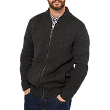 Buy Joules Garston Zip Knit Jumper, Coal Online at johnlewis.com