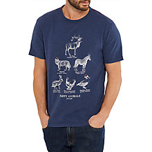 Buy Joules Party Animals T-Shirt, French Navy Online at johnlewis.com