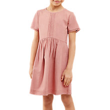 Buy Jigsaw Girls' Cotton Day Dress, Pink Online at johnlewis.com