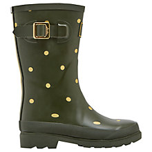 Buy Joules Gold Spot Wellington Boot, Woodland Green Online at johnlewis.com