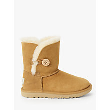 Buy UGG Children's Bailey Button II Boots, Chestnut Online at johnlewis.com