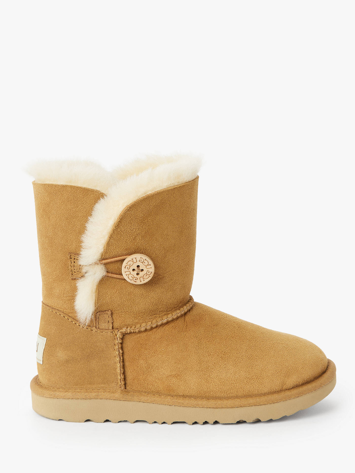 a6aa33b9b Buy UGG Children's Bailey Button II Boots, Chestnut, 12 Jnr Online at  johnlewis.