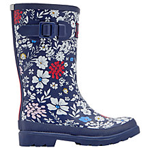 Buy Little Joule Children's Ria Ditsy Floral Wellington Boots, Navy/White Online at johnlewis.com
