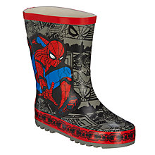 Buy Spider-Man Children's Wellington Boots, Grey Online at johnlewis.com