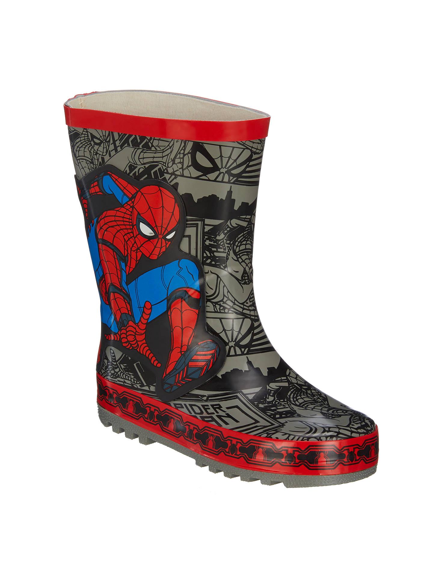 a86e1803d1d Spider-Man Children's Wellington Boots, Grey at John Lewis & Partners
