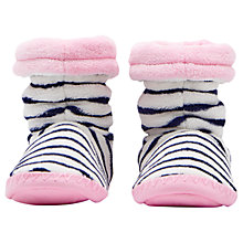 Buy Joules Children's Padabout Stripe Slippers, Navy Online at johnlewis.com