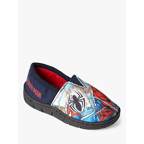 Buy Spiderman Baby Soft Stretch Slippers, Navy Online at johnlewis.com
