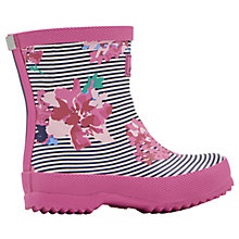 Buy Little Joule Baby Stripe Floral Wellington Boots, Pink Online at johnlewis.com