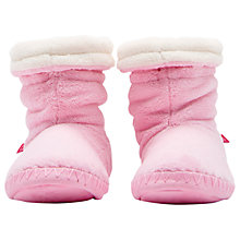 Buy Joules Children's Padabout Slippers, Pink Online at johnlewis.com
