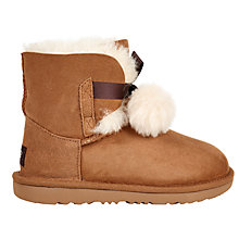 Buy UGG Children's Gita Bow Boots, Chestnut Online at johnlewis.com