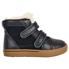 Buy UGG Children's Rennon High-Top Trainers, Black Online at johnlewis.com