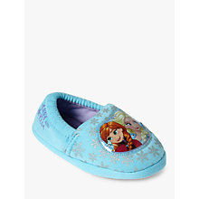 Buy Disney Frozen Baby Soft Slippers, Blue Online at johnlewis.com