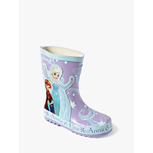 Buy Disney Frozen Children's Wellington Boots, Blue Online at johnlewis.com