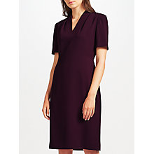 Buy John Lewis Lily Crepe Dress, Purple Online at johnlewis.com