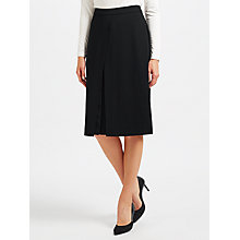 Buy John Lewis Crepe Pleat Skirt, Black Online at johnlewis.com