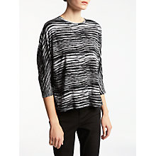 Buy Kin by John Lewis Print Batwing T-Shirt, Black Online at johnlewis.com