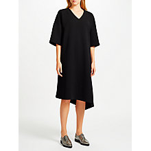 Buy Kin by John Lewis Asymmetric Twill Dress, Black Online at johnlewis.com