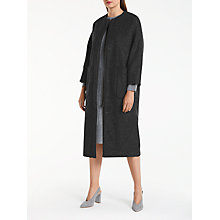 Buy Kin by John Lewis Collarless Longline Coat, Grey Online at johnlewis.com