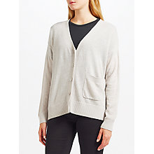 Buy Kin by John Lewis Reverse Seam Cardigan, Grey Online at johnlewis.com