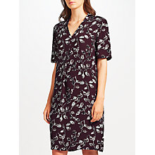 Buy John Lewis Phoebe Print Dress, Aubergine Online at johnlewis.com