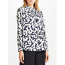 Buy Kin by John Lewis Calligraphy Shirt, Blue/White Online at johnlewis.com