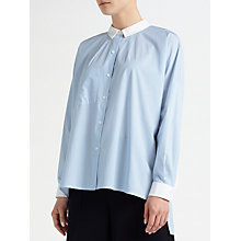 Buy Kin by John Lewis Striped Oversized Shirt, Light Blue Online at johnlewis.com