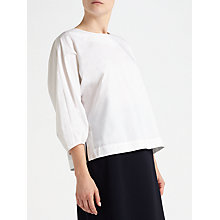 Buy Kin by John Lewis Exaggerated Sleeve Poplin Top, White Online at johnlewis.com