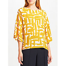 Buy Kin by John Lewis Cut Out Printed Top Online at johnlewis.com
