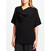 Buy Kin by John Lewis Cowl Neck Top, Black Online at johnlewis.com