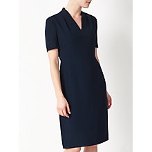 Buy John Lewis Lily Crepe Dress, Navy Online at johnlewis.com