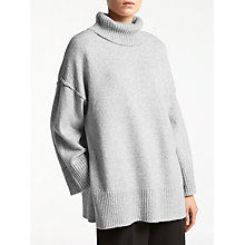 Buy Kin by John Lewis Oversized Roll Neck Jumper, Grey Online at johnlewis.com