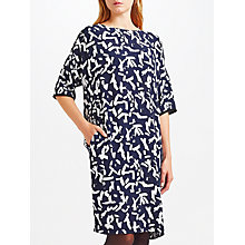 Buy Kin by John Lewis Calligraphy Dress, Navy Online at johnlewis.com