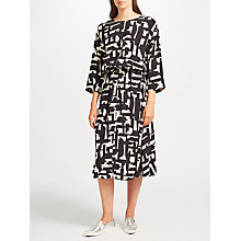 Buy Kin by John Lewis Cut Out Printed Dress, Black/White Online at johnlewis.com