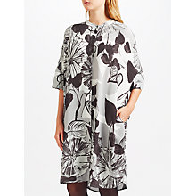 Buy Kin by John Lewis Painterly Floral Print Shirt Dress, Black/White Online at johnlewis.com