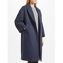 Buy Kin by John Lewis Cocoon Coat, Navy Online at johnlewis.com
