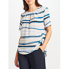 Buy John Lewis Darcie Wave Stripe Silk Blouse Online at johnlewis.com