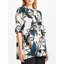 Buy Kin by John Lewis Japanese Floral Oversized Shirt, White Online at johnlewis.com
