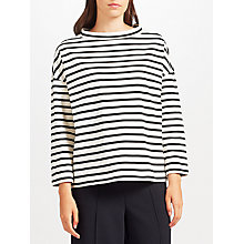 Buy Kin by John Lewis Stripe Mock Neck T-Shirt Online at johnlewis.com