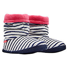 Buy Joules Stripe Print Slipper Socks, French Navy/Multi Online at johnlewis.com