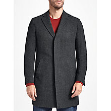 Buy John Lewis Wool Herringbone Overcoat, Grey Online at johnlewis.com
