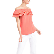 Buy Oasis Ruffled Bardot Top Online at johnlewis.com