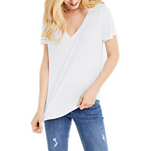 Buy Oasis V-Neck T-Shirt, White Online at johnlewis.com