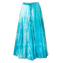 Buy East Tie Dye Skirt, Aqua Online at johnlewis.com