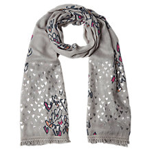 Buy White Stuff Painted With Love Scarf, Grey Online at johnlewis.com