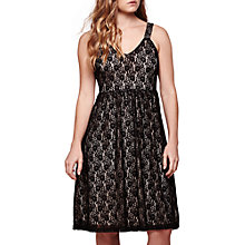 Buy Yumi Lace Strap Dress, Black Online at johnlewis.com