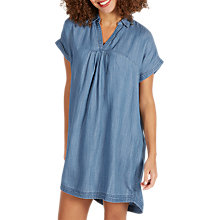 Buy Fat Face Miley Dress, Chambray Blue Online at johnlewis.com
