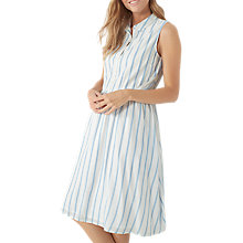 Buy Fat Face Suki Stripe Shirt Dress, Ivory Online at johnlewis.com