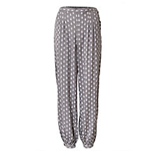 Buy East Ava Booti Print Harem Trousers, Greystone Online at johnlewis.com